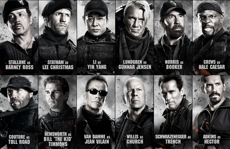 THE EXPENDABLES 2: 3 EXPLODING STARS